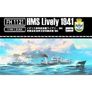 フライホークモデル 1/700 イギリス海軍 駆逐艦 ライブリー 1941年 プラモデル FLYFH1121