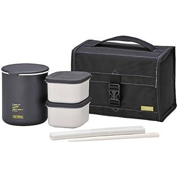 サーモス 保温弁当箱 約1合 ブラック DBP-502 BK