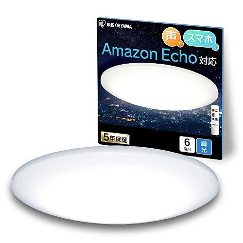 アイリスオーヤマ Alexa対応 【Amazon Echo/Google Home対応】LEDシーリングライト 調光タイプ ~6畳 CL6D-6.0UAIT