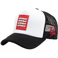 FLIPPER (PREMIER))))) Hypebae Logo 4 Lines Kpop BTS Adjustable Mesh Baseball Cap Trucker Hat for Women, Men