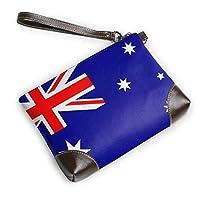 RIRIBOC 小物入れAustralia Flag フラットポーチ トラベルポーチ バッグインバッグ 本革 レザー 小物 化粧 ブランド 人気 メンズ レディースOne Size