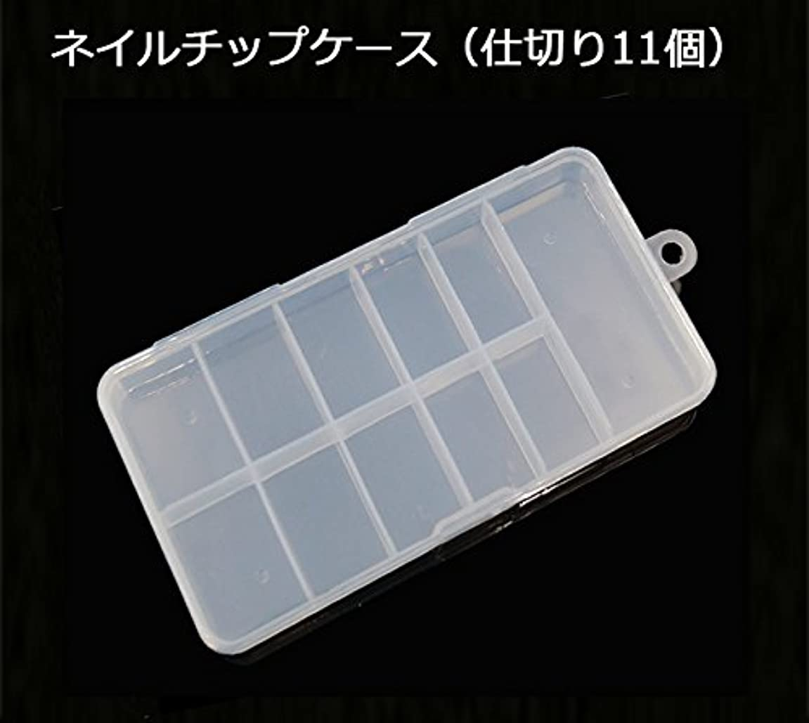 刈る摂氏度メダリストネイルチップケース(仕切り11個)