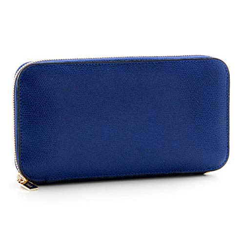 Valextra(ヴァレクストラ) 財布 メンズ グレインレザー ラウンドファスナー長財布 ロイヤルブルー V9L06-028-00R00C[並行輸入品]