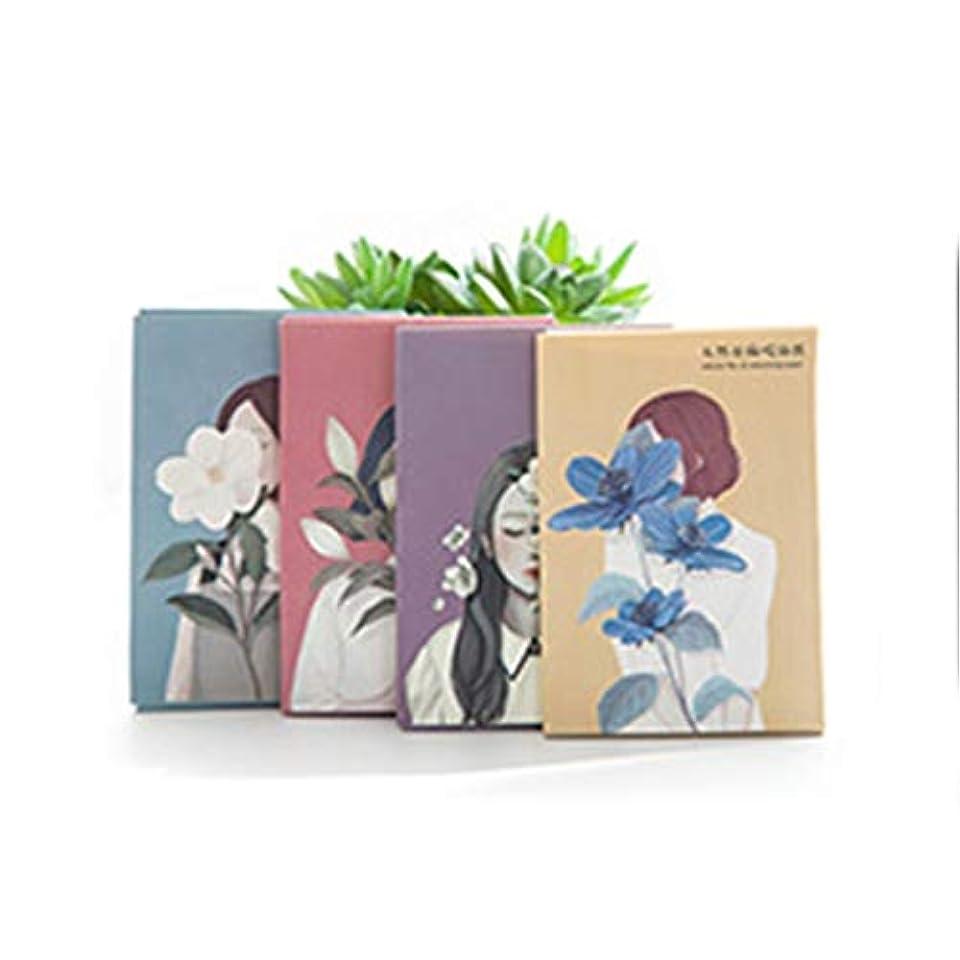 振りかける主観的アクチュエータ50シートナチュラルリネン吸油紙ブルーフィルムフェイシャルオイルコントロールペーパー男性と女性の吸油紙 - ブルー
