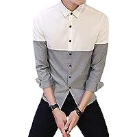 [Flapkash(フラップカッシュ)] スタンダード シルエット バイカラーシャツ カジュアル 長袖 ファッション メンズ