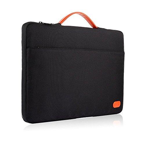 OXA ノートパソコン&タブレットバッグ 衝撃吸収 耐水性 パソコン ケース 12-12.9インチ対応ブリーフケース 保護用スリーブカバー ビジネスバッグ ブラック 【24月保証期間】