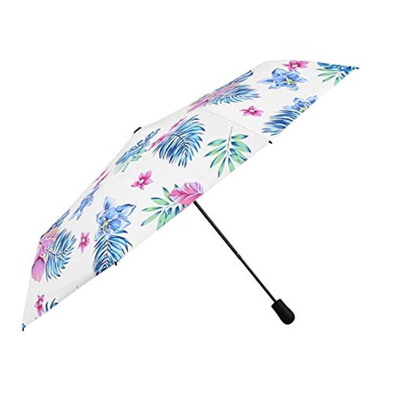 ヒューマニスティック統治する創造HOHYLLYA 小さな新鮮なビニールUV傘大傘持続保護日傘傘防風傘 sunshade (Color : Multicolor)