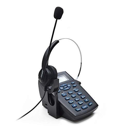 AGPTEK電話 コールセンター電話機 ダイヤルセット 雑音キャンセル 録音機能 LED発信者番号表示 ビジネス 電話カウンセリングサービス、販売、保険、病院、銀行、空港、通信事業者、企業