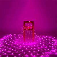 ホームベッドルームデコレーションネットライト、屋外の防水、LEDネットライト、魚ネットライト、クリスマスの装飾、2 * 3M、から選択するさまざまな色 Pink