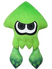 スプラトゥーン2 Splatoon2 大きいイカ ネオングリーン ぬいぐるみ 高さ43cm SP21
