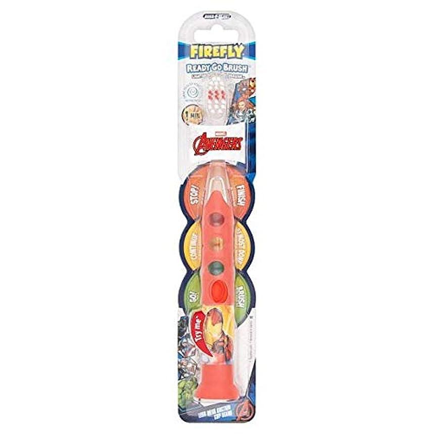 流用する扱いやすい洪水[Firefly ] アベンジャーズ準備ができて、外出先のブラシ歯ブラシ - Avengers Ready Go Brush Toothbrush [並行輸入品]