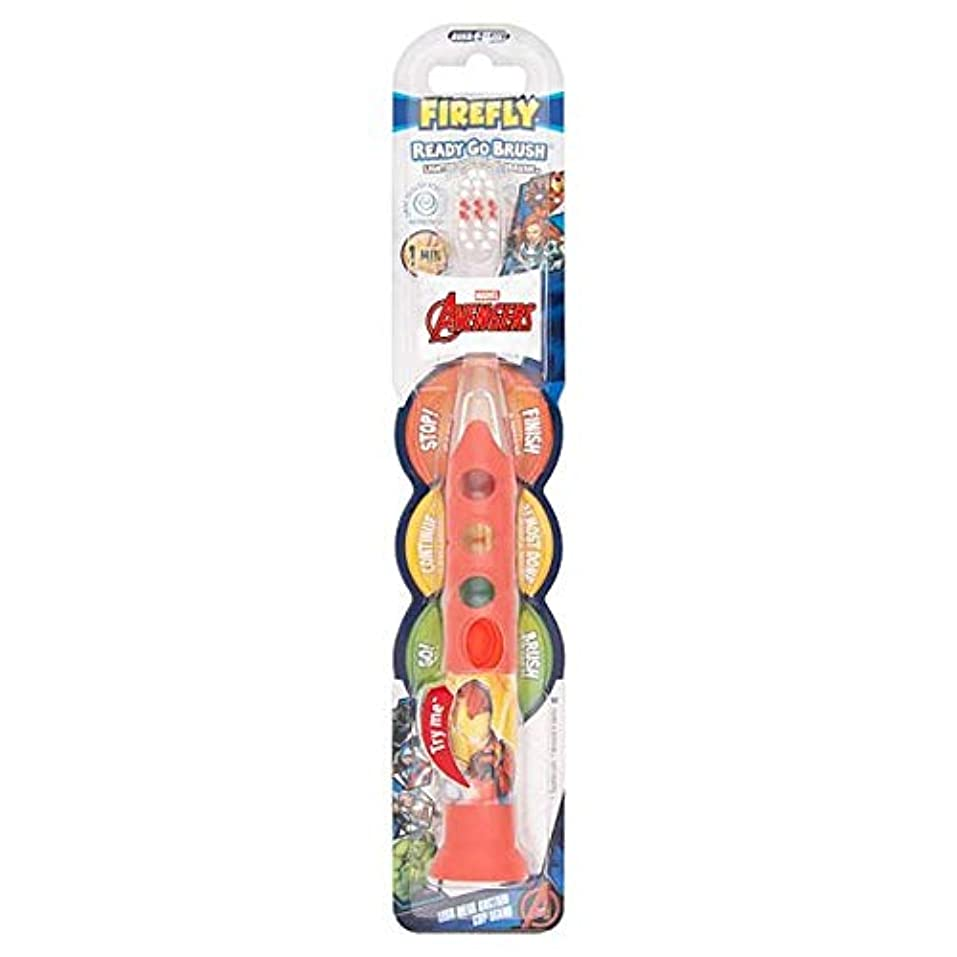 舞い上がる洪水北米[Firefly ] アベンジャーズ準備ができて、外出先のブラシ歯ブラシ - Avengers Ready Go Brush Toothbrush [並行輸入品]