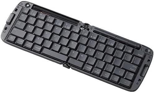 【1900年モデル】ELECOM iPad/iPhone4/4S/3GS/3G/iPod touch 対応 折りたたみBluetoothキーボード 英字配列 ブラック TK-FBP017EBK
