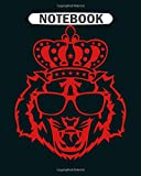 Notebook: crown king tiger head logo face 910  College Ruled - 50 sheets, 100 pages - 8 x 10 inches 画像