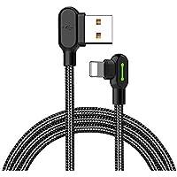 iPhone X/8/8Plus USB ケーブル L字型 ベンド ケーブル Mcdodo 90º Light Cable ゲーム 遊戯専属 同時給電可能 iPhone対応 急速充電 高速データ転送 (1.8M)