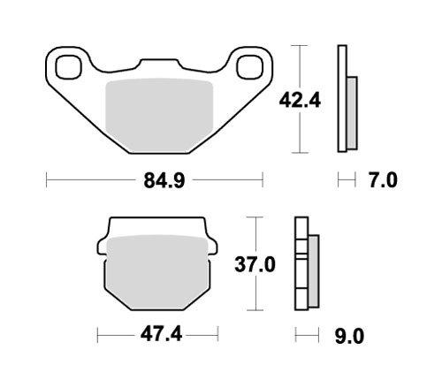 SBS ブレーキパッド 544SI シンターメタル RM80 KSR KDX125 等 777-0544070