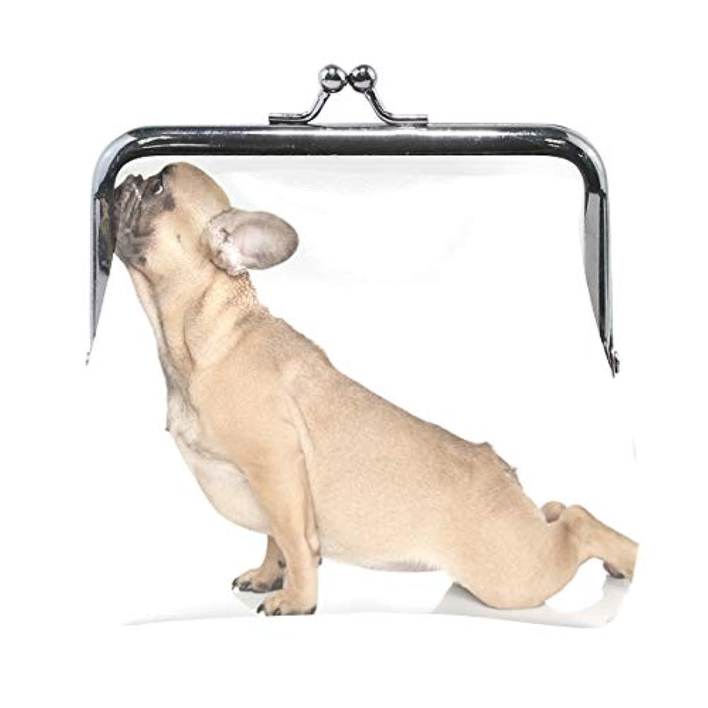 AOMOKI 財布 小銭入れ ガマ口 コインケース レディース メンズ レザー 丸形 おしゃれ プレゼント ギフト オリジナル 小物ケース 犬柄