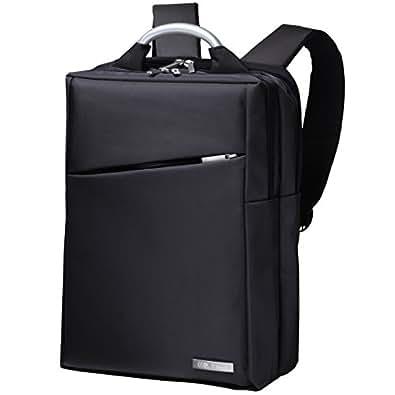 CtwoQ ビジネスリュック PCリュック PCバッグ メンズ 防水 軽量 3way リュックサック (1 ブラック)