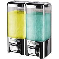 洗面台調節可能なソープディスペンサーソープディスペンサー浴室シャワーシャンプーボックスソープディスペンサー壁マウント浴室Hand Soapボトル 14 * 9.2 * 19.5cm シルバー