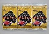韓国食品 ご飯やおむすびに 一度食べたらヤミツキ 韓国海苔とピリリと辛い明太子のり 8切8枚×3袋