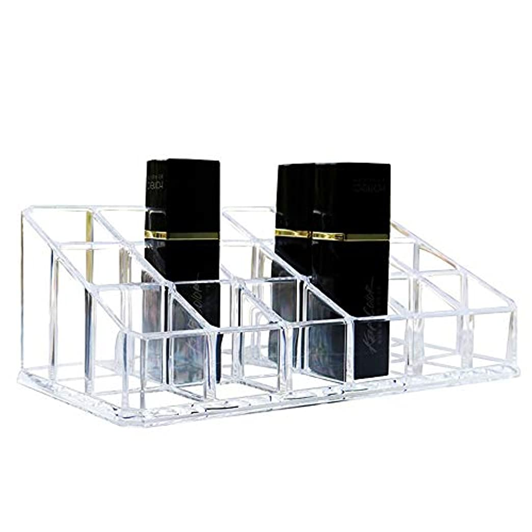 ショットいつも撤回する整理簡単 シンプルな口紅収納クリア18コンパートメント化粧口紅化粧品ディスプレイスタンドラックホルダーオーガナイザー (Color : Clear, Size : 17.4*9*6.3CM)