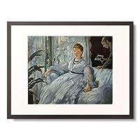 エドゥアール・マネ Edouard Manet 「The Reading. Mme. Manet and her son, Leon Koella-Leenhoff. 1869」 額装アート作品