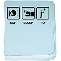 CafePress – RC飛行機 – スーパーソフトベビー毛布、新生児おくるみ ブルー 074415505425CD2
