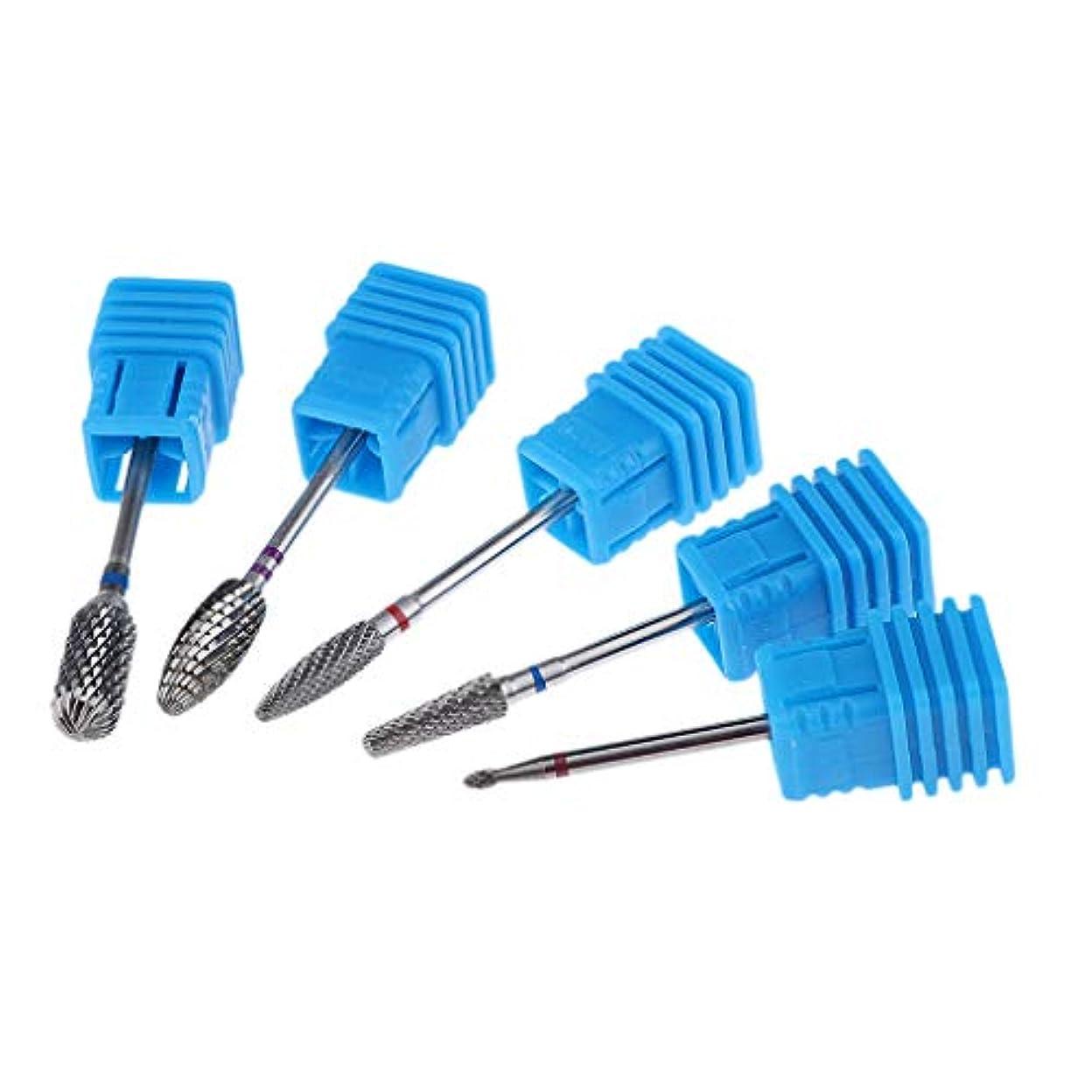 気をつけて参照するピュー5倍ネイルドリルビットセットバレルヘッド電動ドリルビット粗研削工具