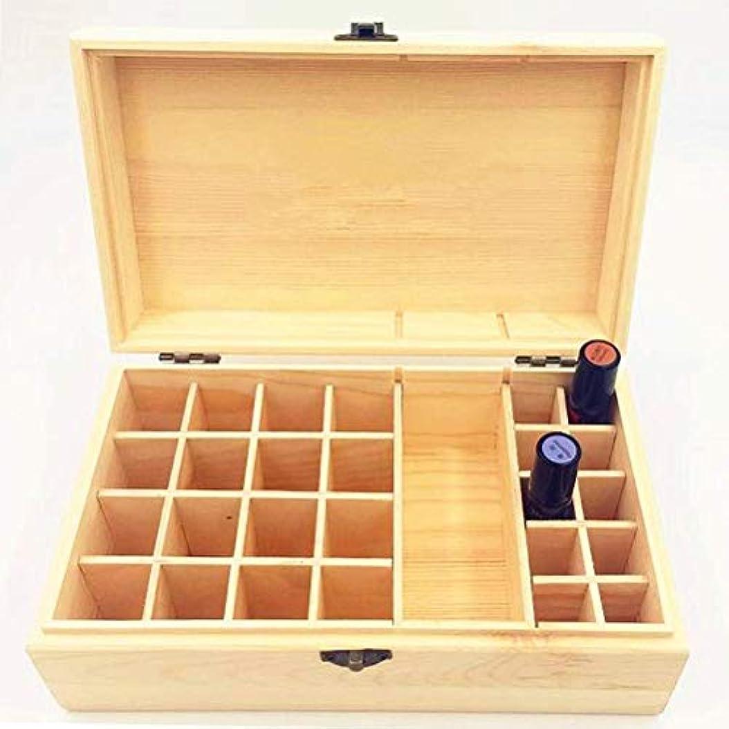 TINKSKY アロマケース エッセンシャルオイルケース 木製 精油ケース 精油収納 仕切りボックス 32本収納 仕切り板が取り出し可