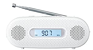 パナソニック ラジオ FM/AM/ワイドFM対応 手回し充電対応 ホワイト RF-TJ20-W