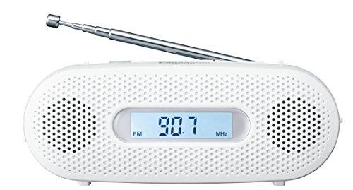 パナソニック ラジオ FM/AM/ワイドFM対応 手回し充電対応 ホワイト RF-TJ20-W...
