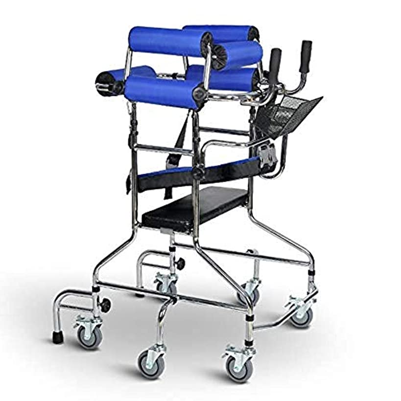 の前で病資格情報滑車の大人の歩行フレームの歩行者、高齢者の歩行者の訓練装置は下肢の歩行フレームを助けました