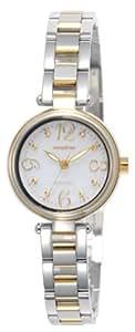 [リコー]RICOH 腕時計 モンペリエ・エミット ソーラー充電式 3気圧防水 ホワイト×ゴールド 699004-81 レディース