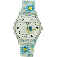 Willis水抵抗時間先生Floral Butterflyキッズ用ガールズプラスチックQuartz Watch 1スペアセルバッテリ