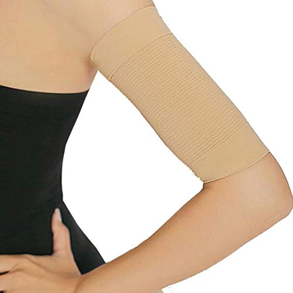 放射性導出傑作二の腕シェイパー 二の腕 サポーター 引き締め 美腕 痩せ 女性 サウナ アッパーアーム スリム 上腕 制御 シェイプ スリーブラップ 腕 引き締め サポーター (肉色)