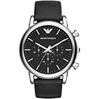 Emporio Armani Men's Classic Analog Analog-quartz Black Watch, (AR1828)