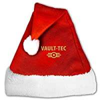 Vault-Tec フォールアウト ふわふわサンタ帽子コスプレクリスマスコスチューム大人サンタ帽子赤いトナカイの帽子