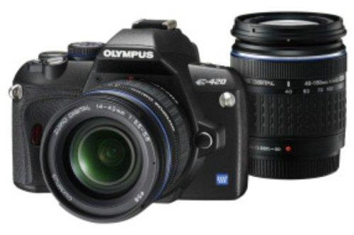 OLYMPUS デジタル一眼レフカメラ E-420 ダブルズームキット E-420WKIT