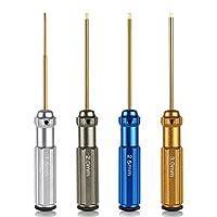 NEEWER 窒化チタン TiNi六角ドライバーレンチ4点セット 1.5mm/2mm/2.5mm/3.0mm 【並行輸入品】