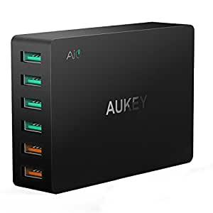 [Quick Charge 3.0対応]AUKEY USB充電器 ACアダプター 6ポート 60W スマホ充電器 急速充電可能 AiPower搭載 iPhone 7 / iPhone 7 Plus / iPad / Galaxy / Nexus / Xperia などに対応 (ブラック)PA-T11