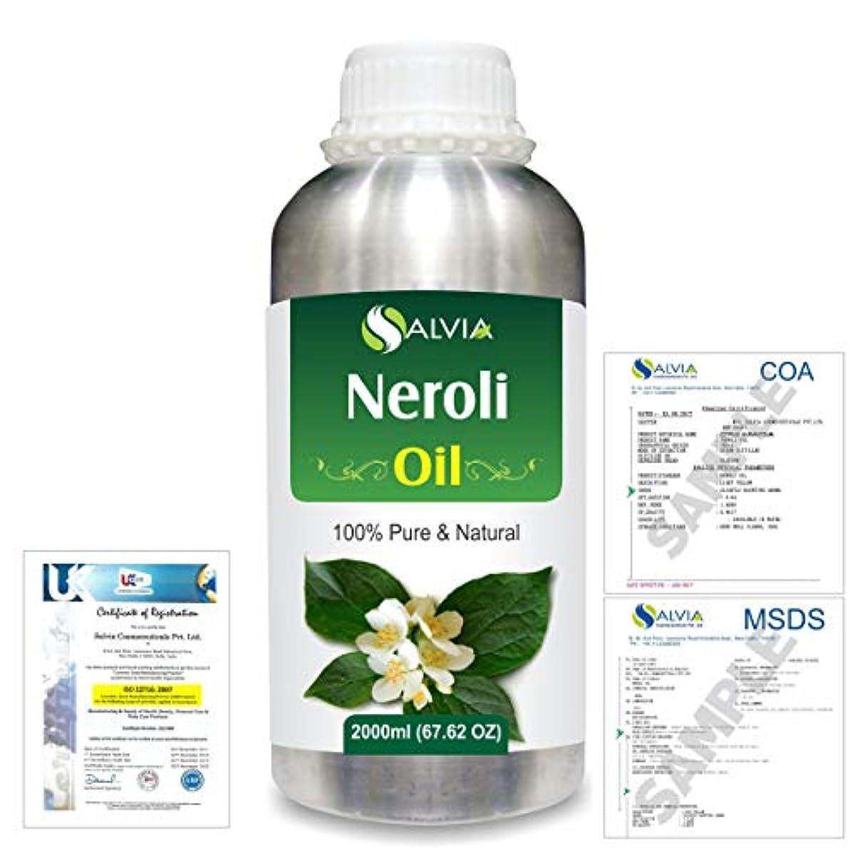 対称早めるレベルNeroli (Citrus Aurantium) 100% Natural Pure Essential Oil 2000ml/67 fl.oz.