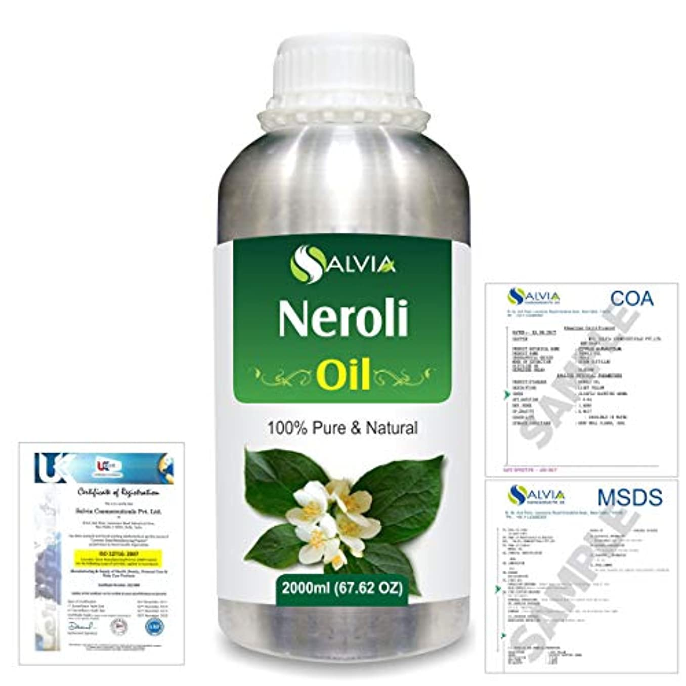 養う掻く傾向があるNeroli (Citrus Aurantium) 100% Natural Pure Essential Oil 2000ml/67 fl.oz.