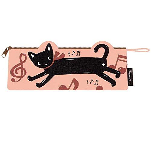 【黒猫ミィー】 ペンケース(ミュージック)[227782]