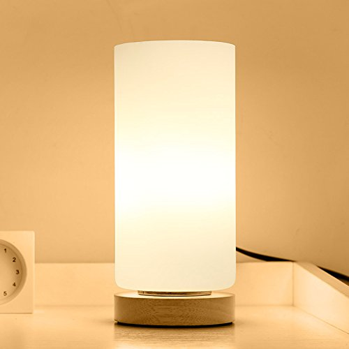 JUYEE 間接照明 おしゃれ リモコン 和風 ナイトライト ベッドサイドランプ LED電球 調色調光 目に優しい 省エネ 寝室用 (高円柱(電球とリモコンつき))
