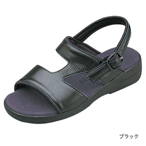 (クロワッサン)CROISSANTBasicサンダル日本製・本革4592 (L (24~24.5cm), ブラック)