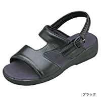 (クロワッサン)CROISSANTBasicサンダル日本製・本革4592 (S (22~22.5cm), ブラック)