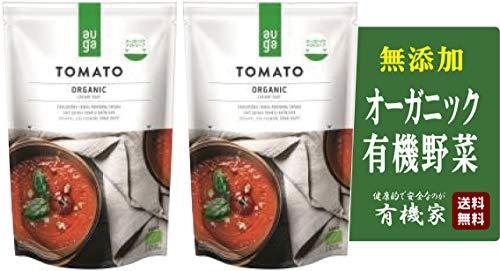 無添加 AUGA オーガニック トマトスープ 400g×2個★送料無料コンパクト★バジルやオレガノのハーブが入った爽やかトマトのスープ。ヨーロッパの大地で採れたオーガニック野菜を使用しています。口当たりもまろやかでクリーミーな味わいです。【有機JAS認定品