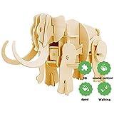 Eggschale 3D 恐竜パズル DIY 木製組み立てブロック 教育玩具 ギフト キッズ サウンドコントロール 楽しい創造性 H2263