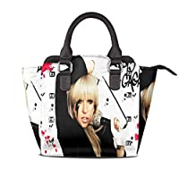 人気の女性のショルダーバッグの最新動向 レザートートショルダーバッグ、レザーショルダーリベットバッグ Lady Gaga ファッションキュートで人気のガールバッグ 、学校、ハイキング、ビジネス、仕事、旅行、買い物、デート