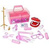 歯科器具のおもちゃ 15本 遊びの医者のおもちゃポータブル医学 子供シミュレーションのスーツケース 教育ゲーム Xummy